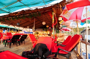 Seafood restaurant at Colva beach
